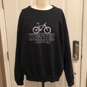 Sweaters - Stranger things black crew neck